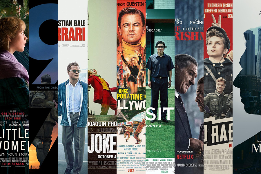 TOGETHER: These year's Best Picture nominees are (left to right) Little Women, 1917, Ford v Ferrari, Joker, Once Upon a Time in Hollywood, Parasite, The Irishman, Jojo Rabbit and Marriage Story