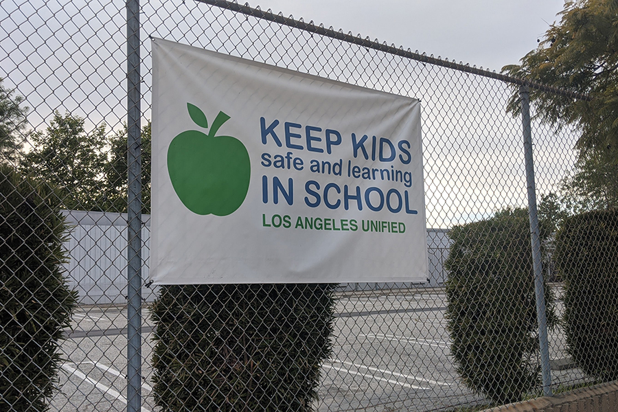 UNCERTAIN%3A+A+sign+at+Canfield+Elementary+School+in+Beverlywood+was+an+ironic+reminder+on+Tuesday%2C+when+state+School+Superintendent+Tony+Thurmond+announced+all+state+public+schools+would+remain+closed+through+the+end+of+the+2019-20+year.