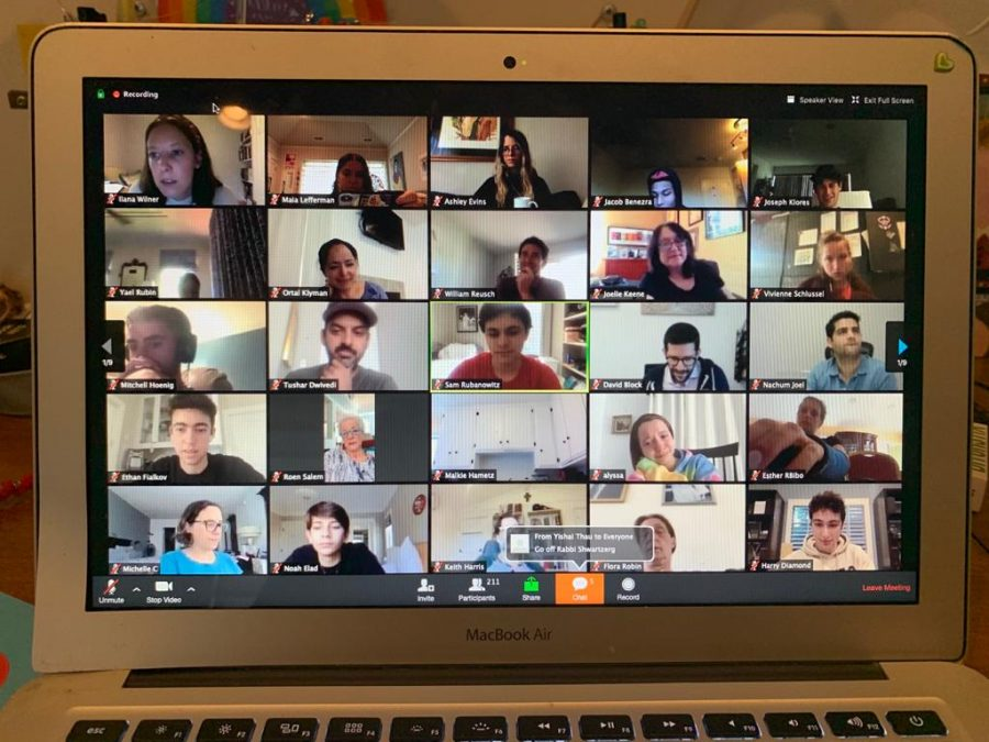 ENDING: On seniors' last day of school, the school gathered on Zoom for slow singing and farewells. More than 200 faculty and students of all grades logged on.