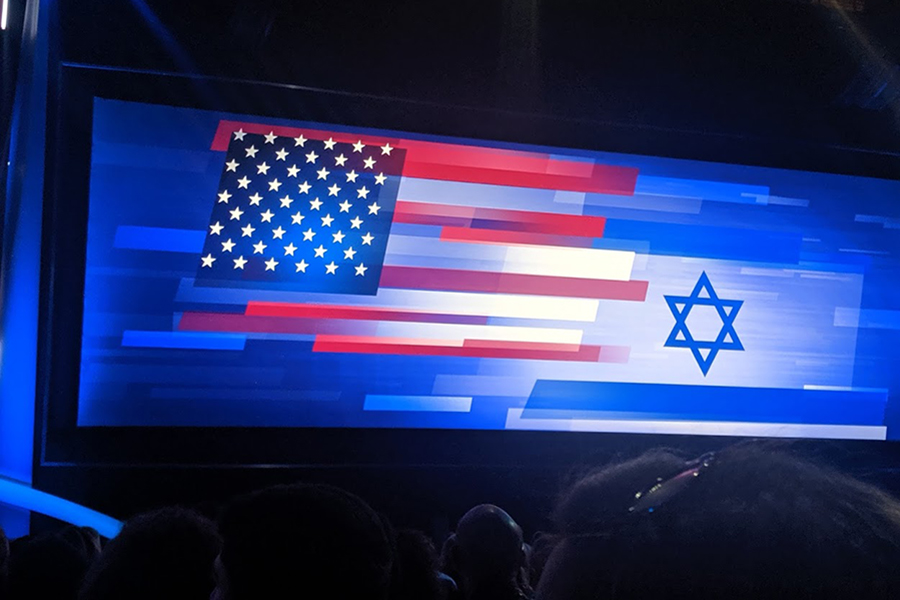 CANCELLED: AIPAC, which last year welcomed 18,000 pro-Israel activists to its policy conference in Washington, D.C., held its general session in the Walter E. Washington Convention Center. Pictures of side-by-side Israeli and American flags are a common backdrop for speakers, who include political and religious leaders from the U.S. and elsewhere.