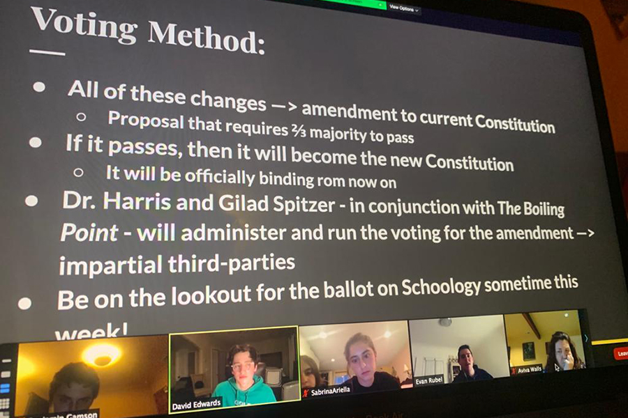 DISCUSSION: David Edwards, last year's Agenda Chair, led a Zoom Town Hall on May 13 about a proposed new Just Community Constitution.