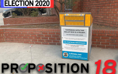 VOTE: An official California election drop box was ready for ballots at the Westside Jewish Community Center Oct. 21. Many people are voting by mail to avoid exposure to Covid-19 while waiting at polling places, and mail-in ballots can also be placed in drop boxes around the state.