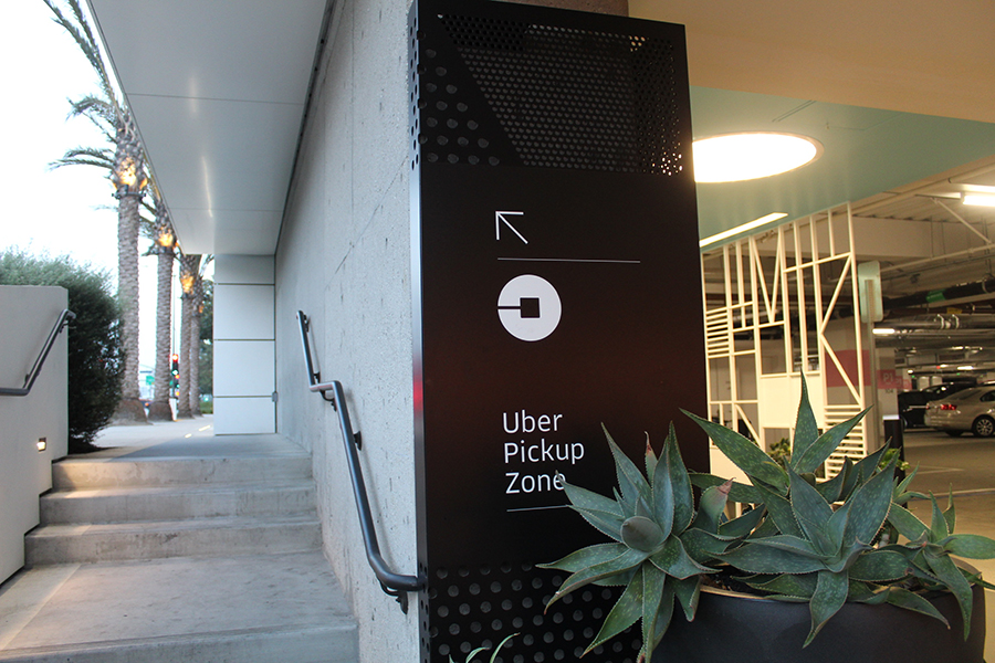 PICKUP: An Uber Pickup Zone at Westfield Century City Mall.