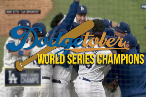 CHAMPIONS: The Dodgers celebrated winning the World Series Oct. 27 at Globe Life Field in Arlington, Tex.