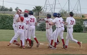 VICTORY: A walk-off single by Josh Harrison gave the Firehawks a last-minute win in a close game against the YULA Panthers May 16.