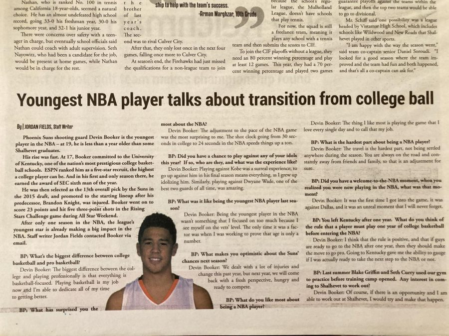 BP ARCHIVE: One-on-one with Phoenix shooting guard Devin Booker