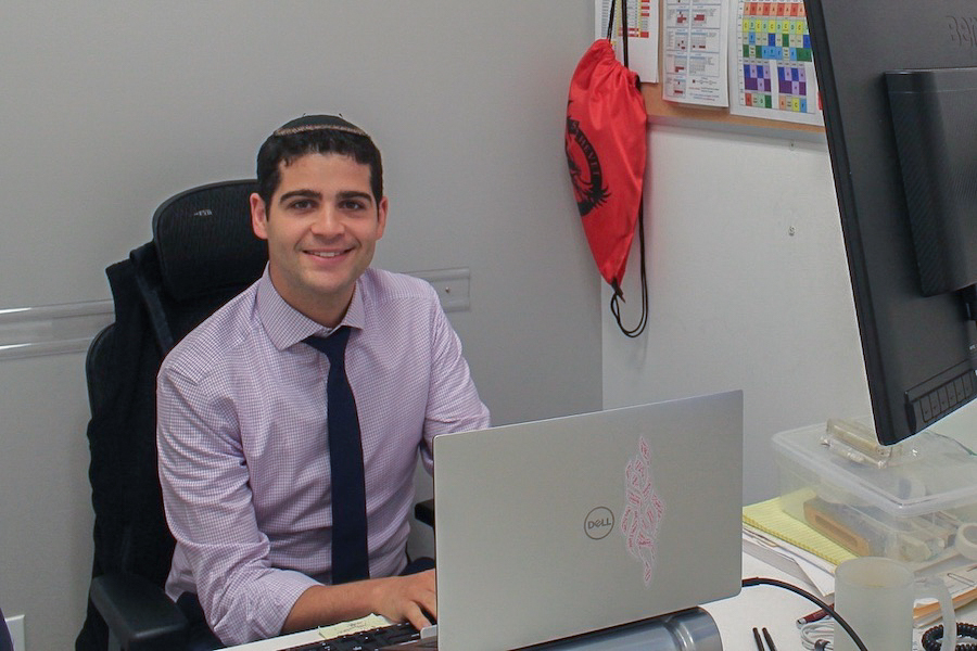 HANGOUT: Nachum Joel's office became a place for students to talk about many subjects.