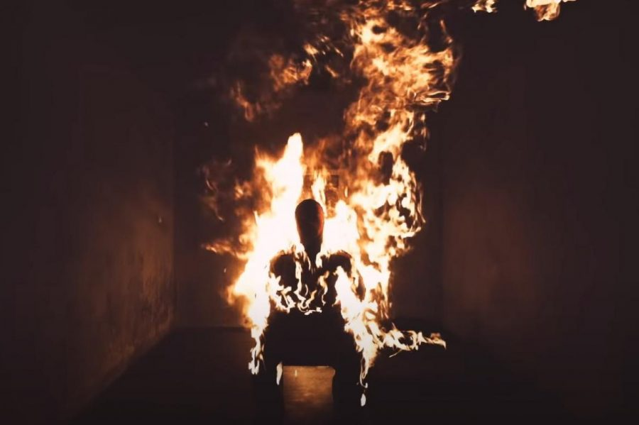REBIRTH: A screenshot of the music video for Kanye Wests song Come To Life, one of many songs on the theme of redemption in his new album, Donda.