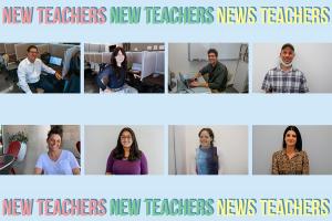 FACES: Clockwise from top left, Mr. David Barishman, Mrs. Bracha Rich, Mr. Noah Rothman, Mr. Sagi Refael, Ms. Jasmine Ezagui, Ms. Chani Infield, Ms. Priyanka Singh and Ms. Meirav Finn have joined the Shalhevet staff this year.